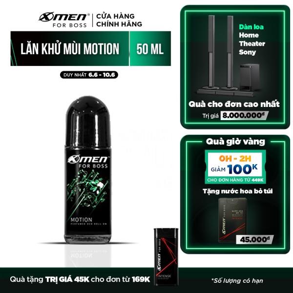 Lăn khử mùi X-Men For Boss Motion - Mùi hương năng động phóng khoáng 50ml