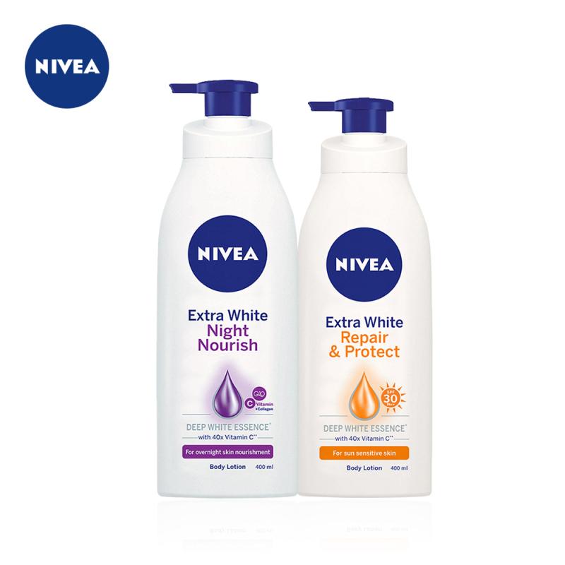 Bộ đôi chống nắng và dưỡng trắng da ngày, đêm NIVEA (88311 + 88126)