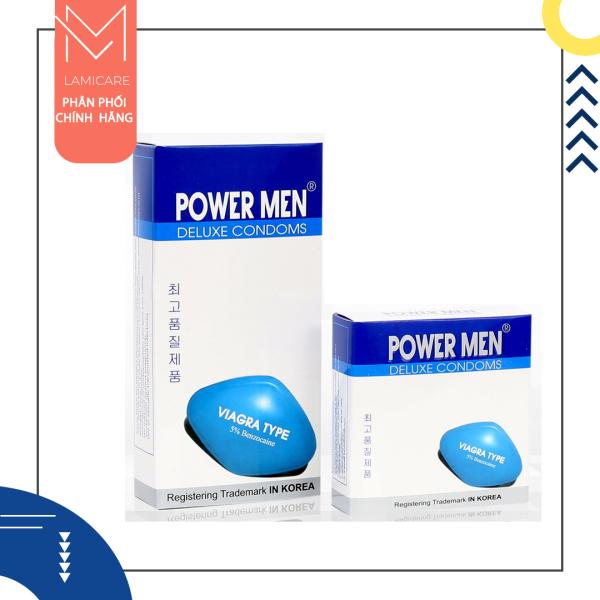 Powermmen Bao cao su tạo xúc cảm tăng thời gian quan hệ Powermen Viagra - Lamicare cao cấp