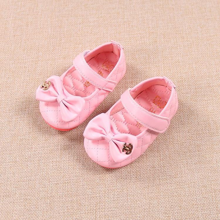 giày tập đi bé gái size 15-19 da mềm