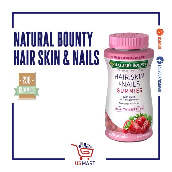 Kẹo dẻo làm đẹp da, móng, tóc Nature Bouty Hair Skin and Nails gummies (230 viên) giá rẻ