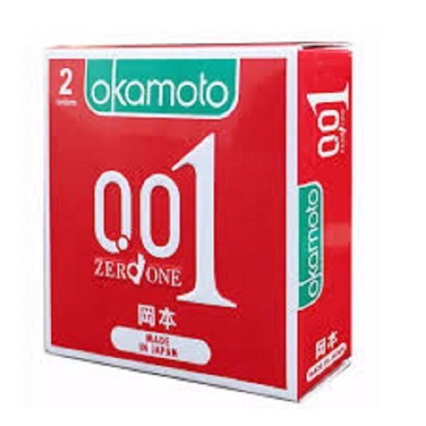 Hộp 2 bao cao su Okamoto 0.01 siêu mỏng nhất thế giới, sản phẩm cam kết đúng như mô tả, chất lượng đảm bảo, an toàn sức khỏe người dùng nhập khẩu