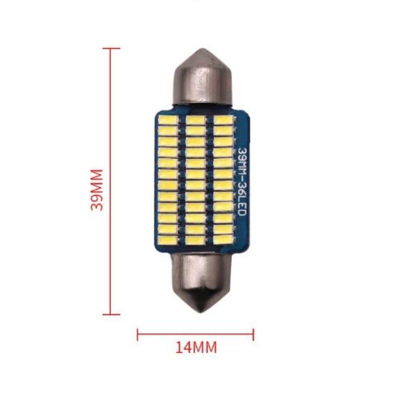 COMBO 2 BÓNG LED TRẦN Ô TÔ , XE HƠI 3014-39MM 36 LED HÃNG YOBIS