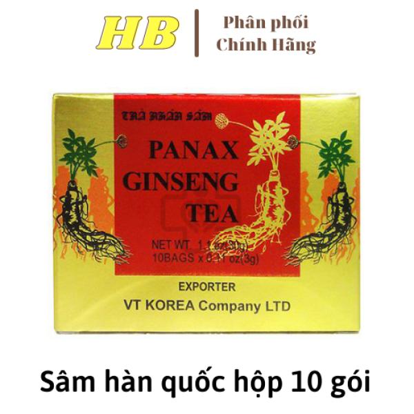 |MÃ TRI ÂN| 10 Gói Trà Sâm Hàn Quốc mỗi gói 3 gam - trà sâm bảo vệ sức khỏe - tăng cường sức đề kháng - giúp trí tuệ minh mẫn dùng cho cả gia đình