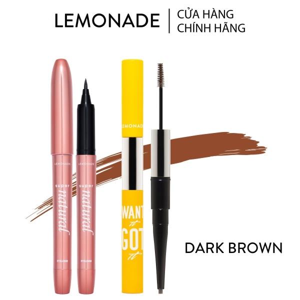 Combo Lemonade bút kẻ mắt SuperNatural 1g và chì kẻ mày 2 đầu Want It Got It 2.75g