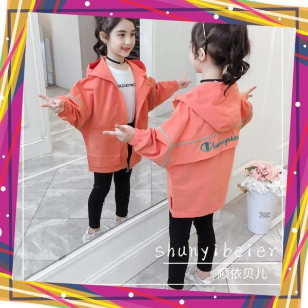 Giá bán áo khoác bé gái, áo khoác dù 2 lớp Unisex từ 5 đến 14 tuổi M856