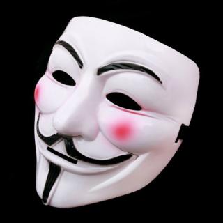Mặt nạ Hacker Anonymous hóa trang halloween màu trắng, chất liệu an toàn, thích hợp hóa trang vào các dịp lễ thumbnail