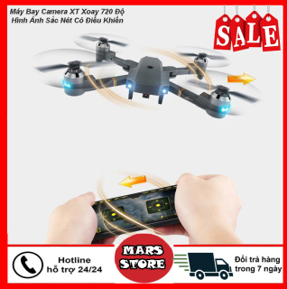 Fly Cam quay HD, Máy Bay Điều Khiển Từ Xa XT-1 Kết Nối Wifi Quay Phim Chụp Ảnh Full HD 720P, Máy Bay Camera Xoay 720 Độ Chất Lượng Hình Ảnh Sắc Nét Bảo Hành Uy Tín 1 Đổi 1 thumbnail