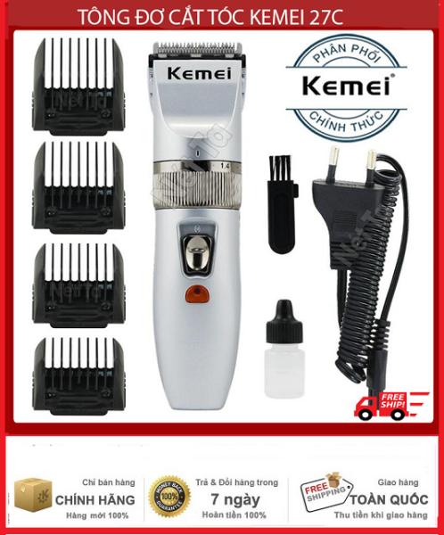Tông đơ cắt tóc cho trẻ em và gia đình KEMEI KM-27C bảo hành 3 tháng tại Nét Ta tong do cat toc cho be tông đơ không dây sử dụng 60 phút giá rẻ