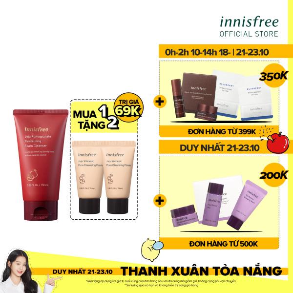 Sữa rửa mặt ngăn ngừa lão hóa da innisfree Jeju Pomegranate Revitalizing Foam Cleanser 150ml
