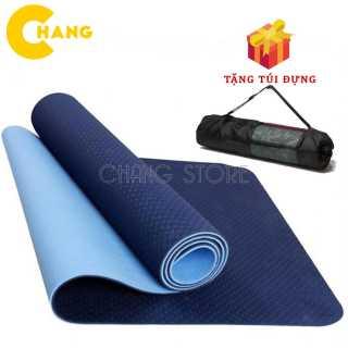 Thảm tập Yoga Gym TPE 2 LỚP Cao Su Non Dày, Êm Chống Trơn Trượt + Tặng Túi Đựng Tiện Dụng 1