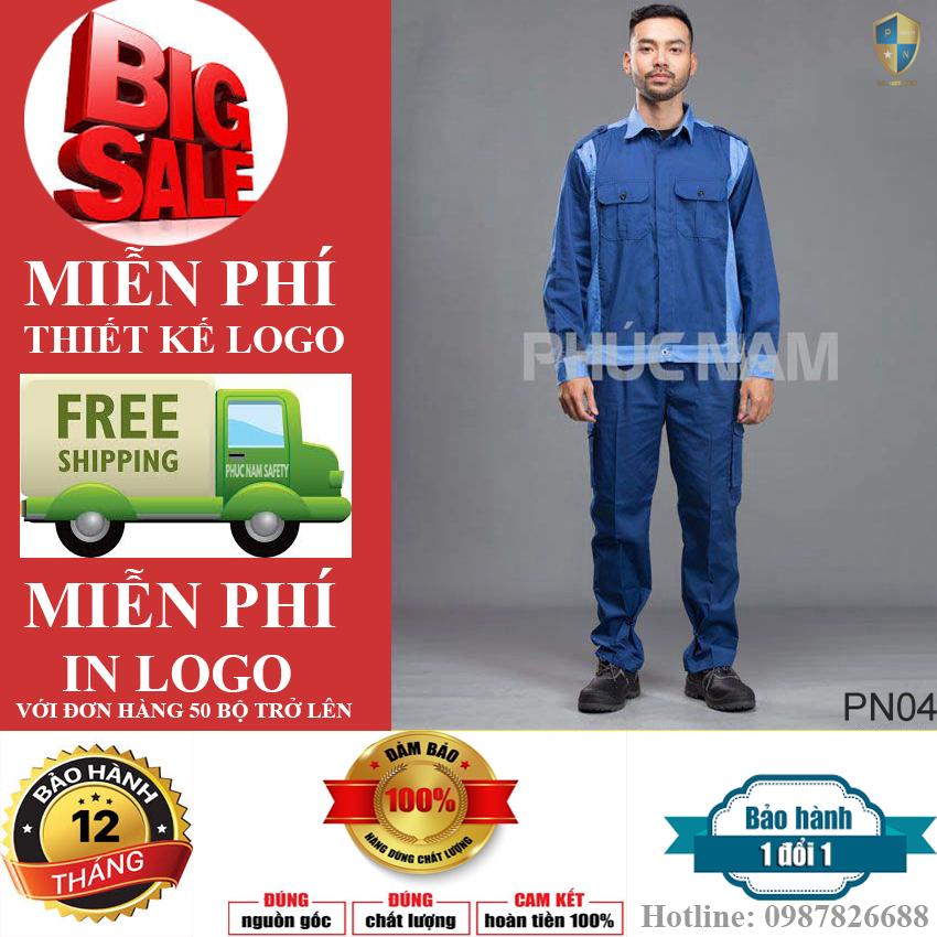 Quần áo bảo hộ lao động vải Pangrim Hàn Quốc, Quần áo bảo hộ lao động PN04, quần áo bảo hộ lao động tốt, quần áo bảo hộ lao động, Bảo hộ lao động Phúc Nam