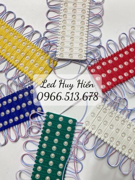 Bảng giá Led hắt 3 led 2835 kích thước 6012, led hắt 3 bóng các màu - Vỉ 20 thanh 3 Led