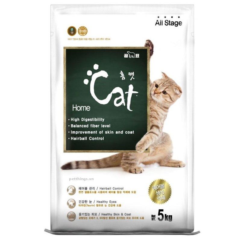 Hạt khô cho mèo HOMECAT túi zip 1Kg