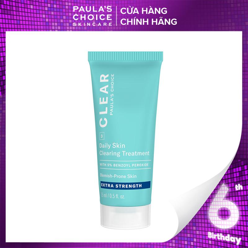 Kem chấm mụn chuyên sâu giảm sưng viêm Paula's Choice Clear Extra Strength Daily Skin 5% benzoyl peroxide 15ml mã 6117 giá rẻ