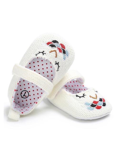 Giày tập đi thêu hình con cú có quai cài cho bé gái BBShine – TD9 giá rẻ