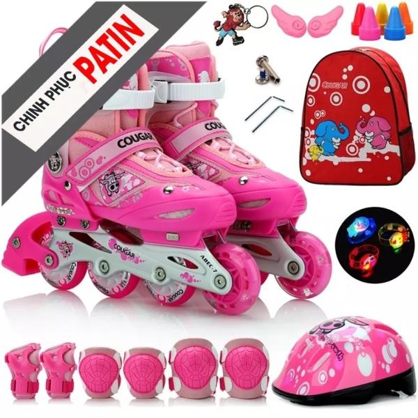 Mua [Tặng Mũ Và Đồ Bảo Hộ] Giày Trượt Patin Trẻ Em, Người Lớn, Giày Patin Có Bánh Xe Phát Sáng Bảo Hành 12 Tháng