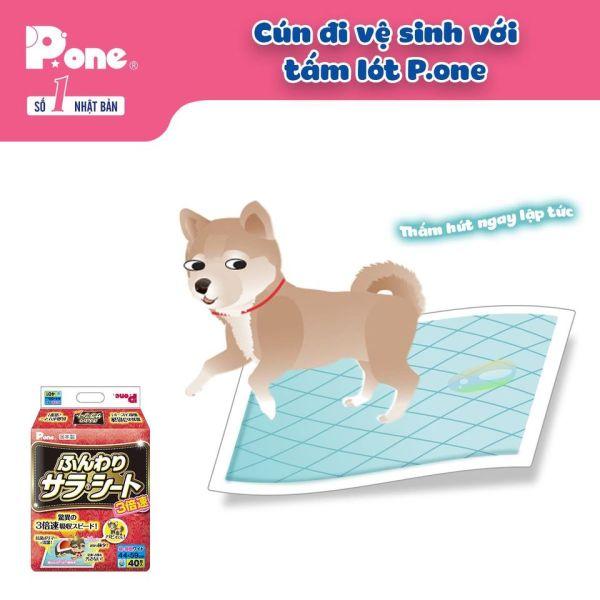 tã lót P.one siêu thấm dành cho chó mèo (hàng Nhật)th