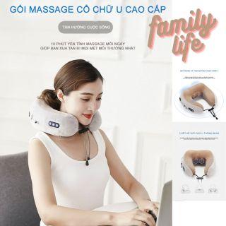 Máy massage cổ vai gáy tốt nhat - Máy massage cổ Xiaomi , GỐI MASSAGE VÒNG CỔ CHỮ U HỒNG NGOẠI ĐA NĂNG 3 chế độ thông minh - Gối ngủ văn phòng, gối massage trị liệu, gối mát xa cổ cao cấp thumbnail