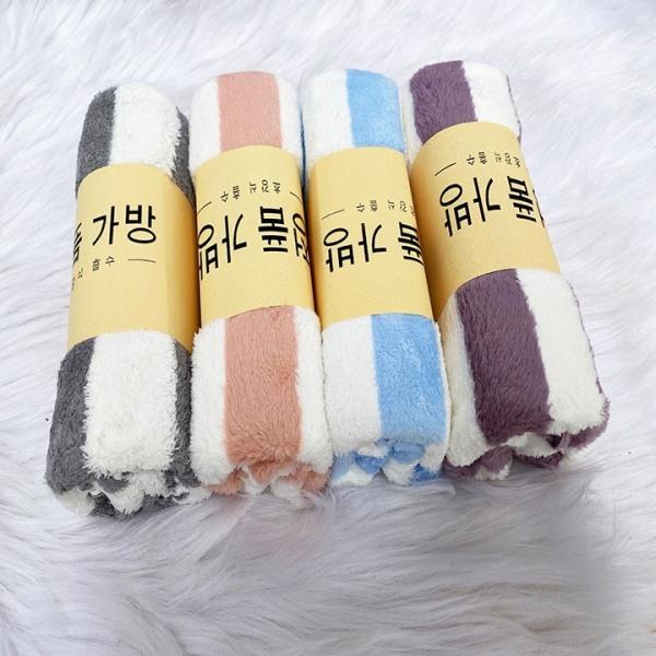 Khăn cuộn lông cừu Hàn Quốc, khăn tắm khăn mặt siêu mềm mịn kích thướt 35x75 cm - BEEKIDS PLAZA