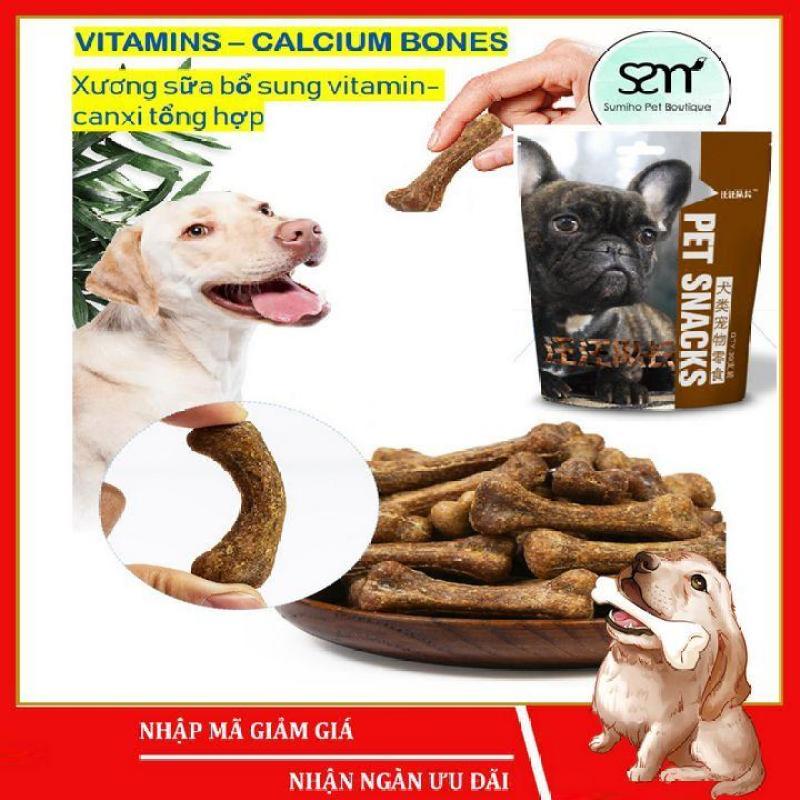 Bánh thưởng cho chó Sumiho (Xương sữa bổ sung vitamin-canxi) (500g) Đồ ăn cho chó mèo thú cưng