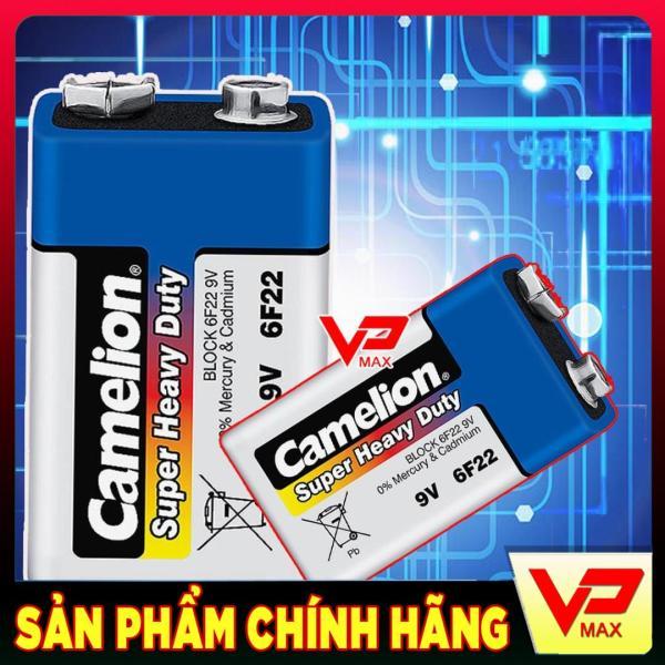 Combo 2 pin khối pin vuông 9V Camelion dùng cho Micro không dây máy báo khói đèn LED đèn pin quạt điện mini đồ chơi trẻ em