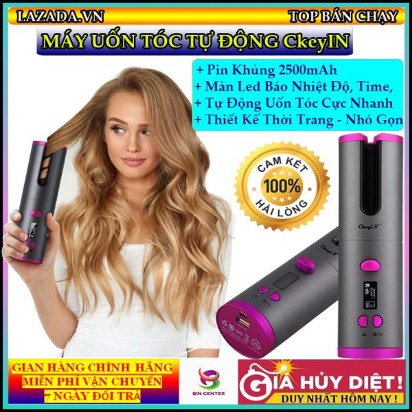 [MẪU MỚI] Máy uốn tóc tự động Ckeyin, Máy uốn tóc thông minh, không gây hư hại cho tóc, làm xoăn cực nhanh - Máy làm tóc mini - Máy uốn xoăn tóc tự động - Có bán kèm máy làm tóc đa năng One Step - Bảo hành 12 tháng nhập khẩu