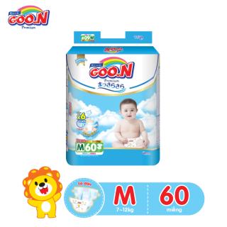 Tã dán Goo.N Premium cao câp gói cực đại size M 60 miếng cho bé 7-12kg thumbnail