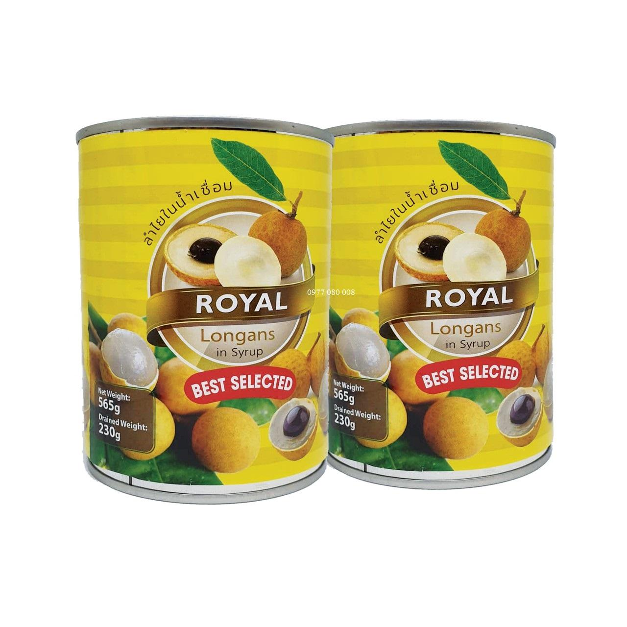 Siêu Tiết Kiệm Khi Mua Combo 2 Hộp Nhãn Ngâm Royal Thái Lan 565g
