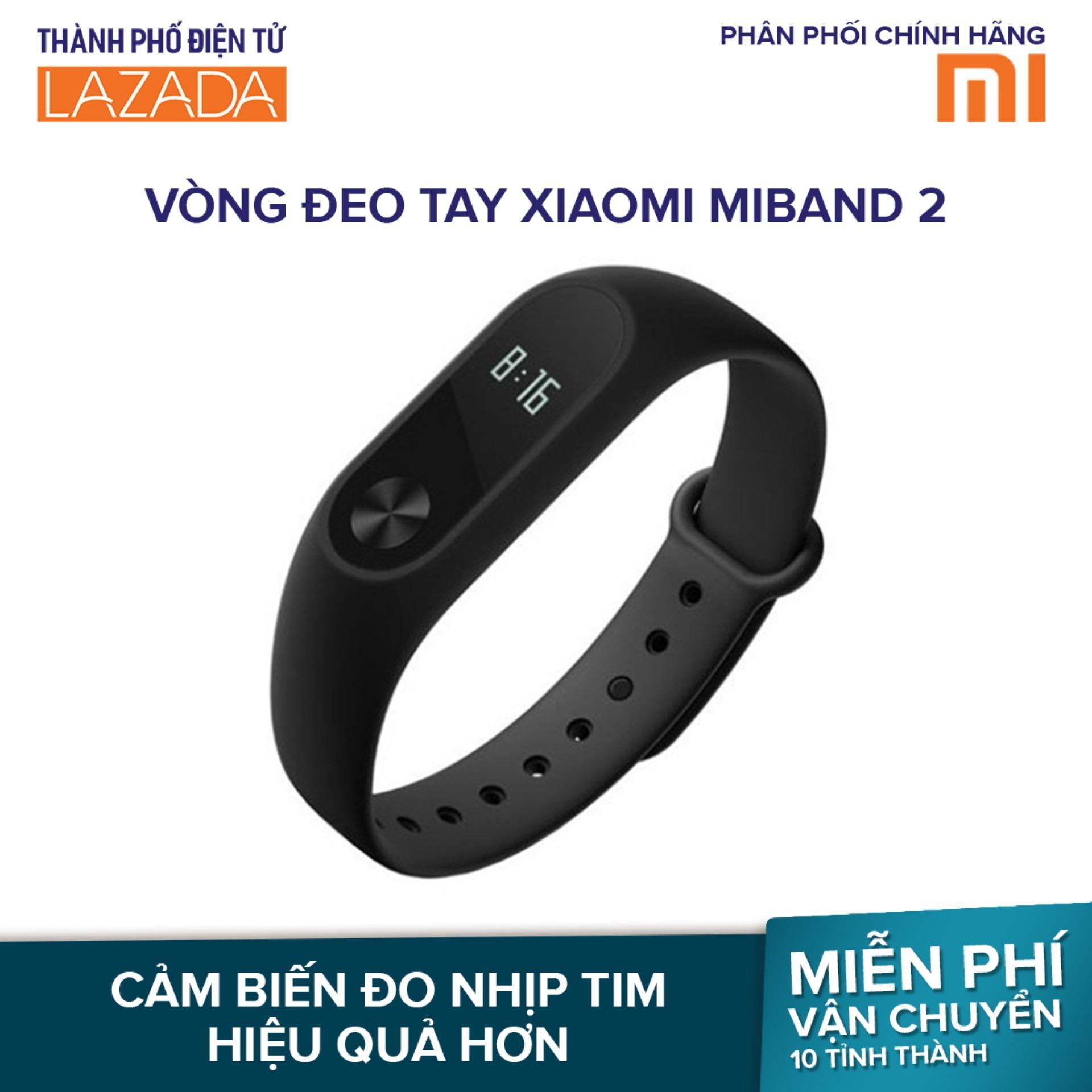 Vòng đeo tay Xiaomi Miband 2 (Đen) - Hãng phân phối chính thức. #giảm giá 16%