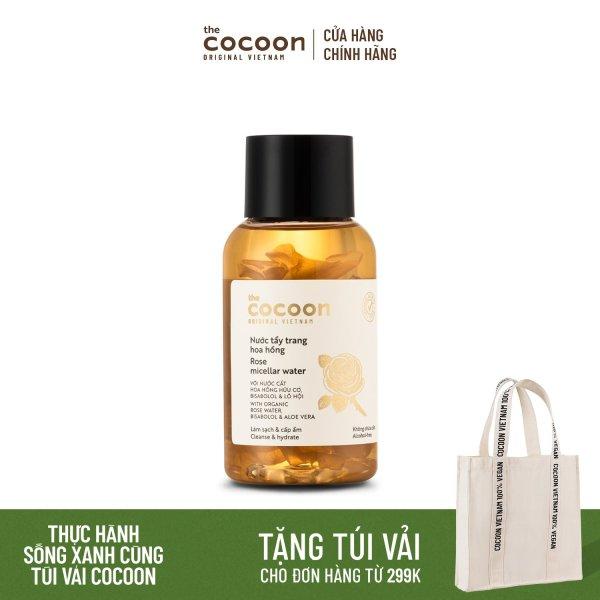 Nước tẩy trang hoa hồng Cocoon tẩy sạch makeup & cấp ẩm 140ml