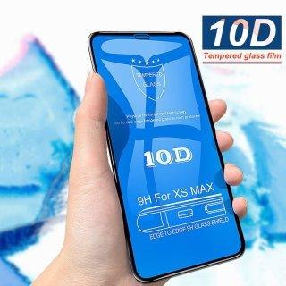 Kính cường lực full màn hình 10D cho iphone 6 6s 6Plus 6SPlus 7 8 7plus 8plus X Xs Xsmax 2 màu Đen và Trắng siêu bền thumbnail