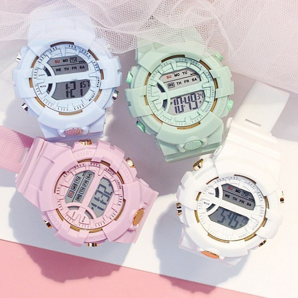 Nơi bán Đồng hồ đeo tay thời trang nữ - đồng hồ thể thao SPORT K562 phiên bản Hàn Quốc  đồng hồ điện tử dây silicon chống thấm nước hiển thị đầy đủ chắc năng lịch tuần ngày tháng đen led sáng xem giờ ban đê