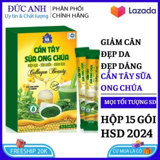Cần tây sữa ong chúa collagen , mật ong giảm cân anh cấp tốc hiệu quả hộp 15 gói , giảm cân nhanh đẹp dáng , đẹp da HSD 2023 thumbnail
