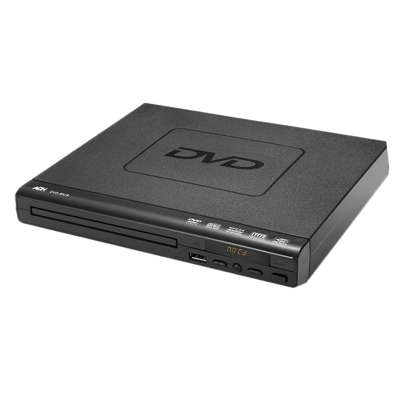 Portable DVD Player for TV Support USB Port Compact Multi Region DVD/SVCD/CD/Disc Player with Remote Control, Not Support HD