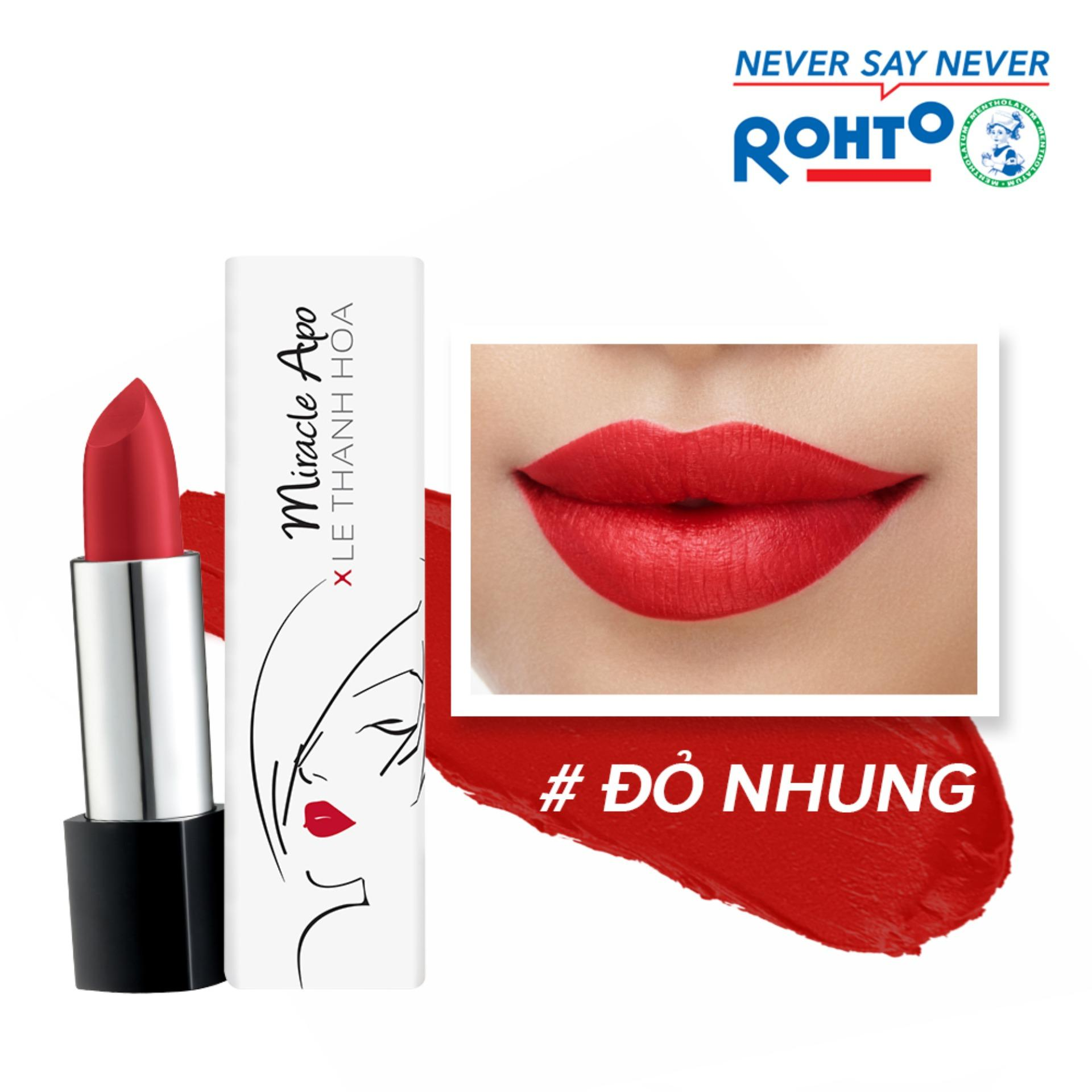 Son lì Miracle Apo Lipstick Matte x Lê Thanh Hòa Majestic 4g (Đỏ nhung)