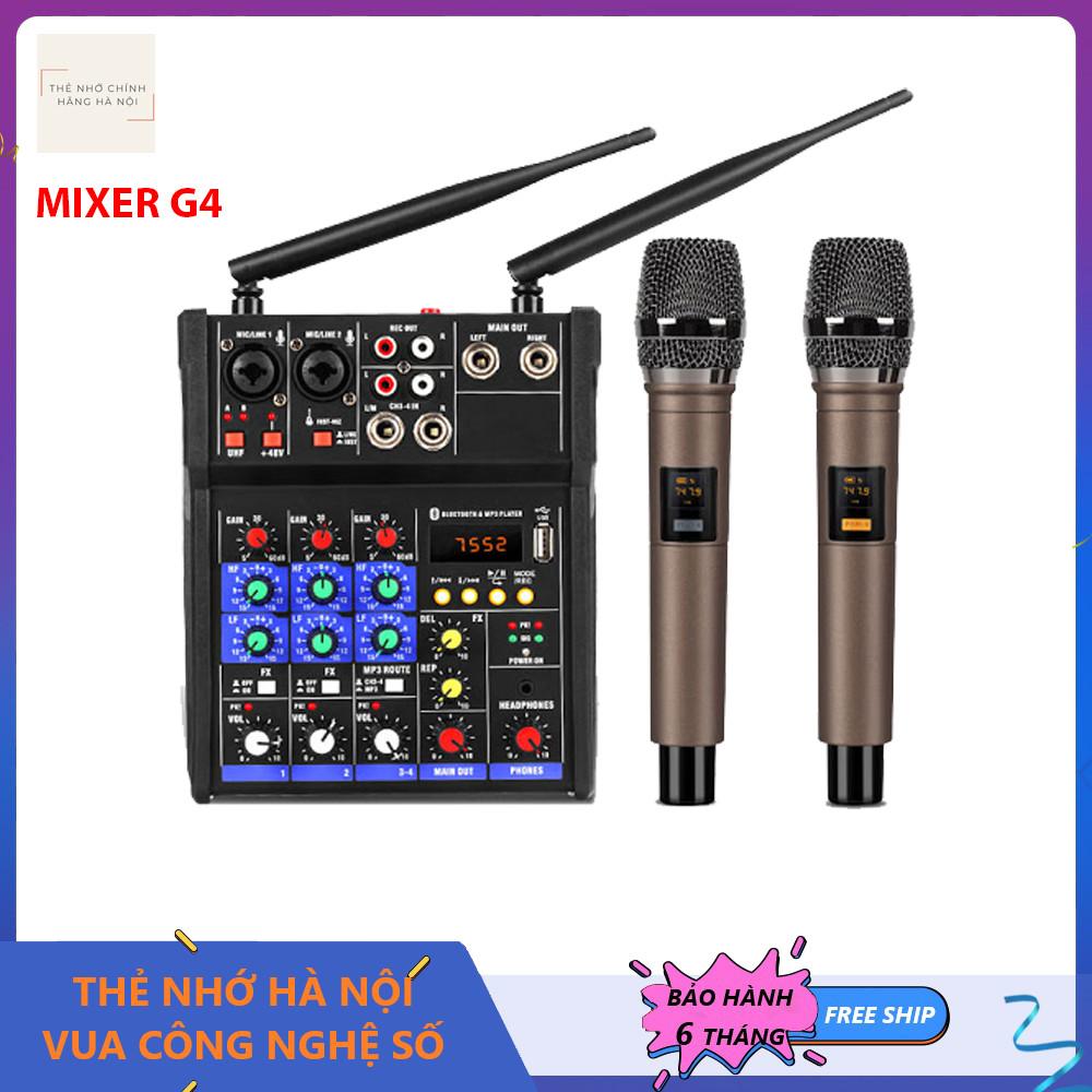 Mixer Yamaha G4 USB - Tặng Kèm 2 Micro Không Dây Chất Lượng Cao - Mixer Chuyên Karaoke, Thu Âm, Livestream Cao Cấp - bộ mixer trộn âm thanh, Mixer cao cấp, bộ Mixer khuếch đại tiền âm thanh, Mixer Yamaha - Hàng nhập khẩu - Bảo hành 6 Tháng