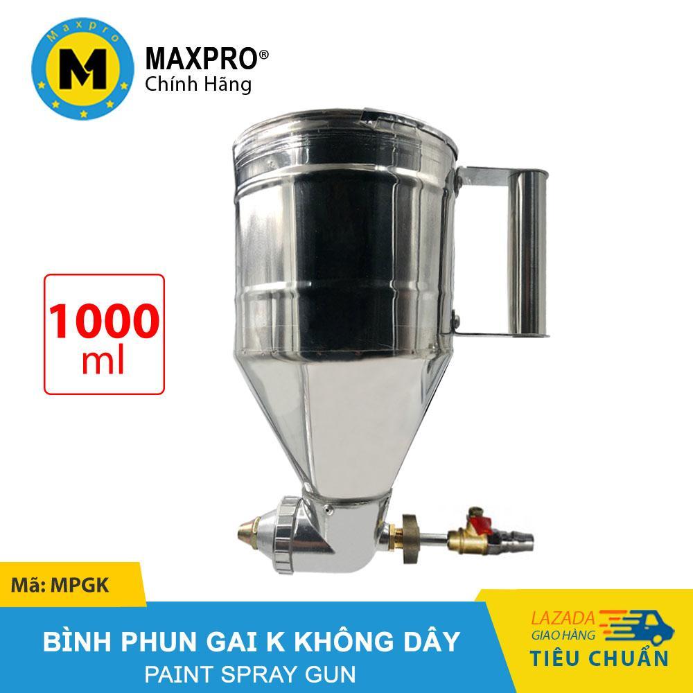 Bình Phun Gai K MAXPRO không Dây - Bình Chứa Sơn 1000ml - MPGK