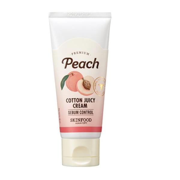 Skinfood - Kem dưỡng kiềm dầu đào ngày Premium Peach Cotton Fuzzy Cream giá rẻ