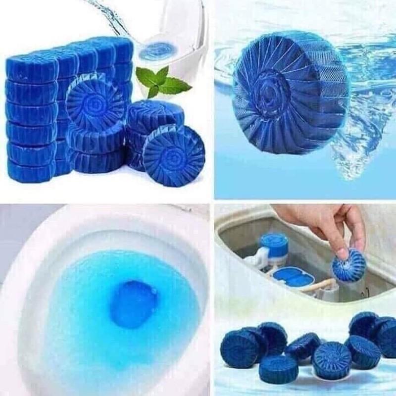 Bộ 50 viên tẩy vệ sinh bồn cầu - Viên thả bồn cầu tẩy sạch Diệt khuẩn vết bẩn ở toilet Nhật Bản