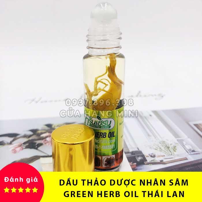 【SALE】 Dầu Lăn Thảo Dược Nhân Sâm Green Herb Oil...