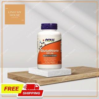 Viên uống trắng da nội sinh NOW Glutathione 500 mg 60 viên thumbnail