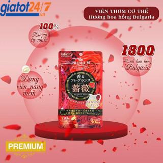 Viên Uống Thơm Cơ Thể Premium Infinity Fragrance Rose 60 Viên Nhật Bản thumbnail