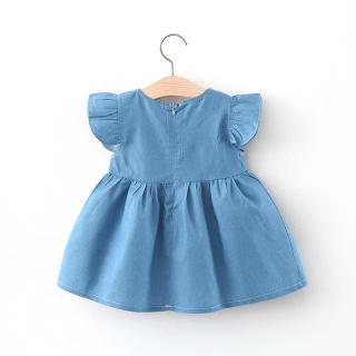 Đầm Thêu Hình Thỏ Hoạt Hình Cho Bé Gái, Đầm Công Chúa Bé Gái Mùa Hè Đầm Dễ Thương Thắt Nơ Toddler Costume Trang Phục
