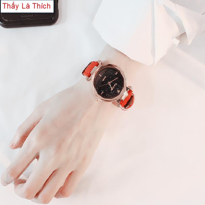 Nơi bán Đồng hồ Nữ mặt phun cát cách điệu - DH2019500052055079