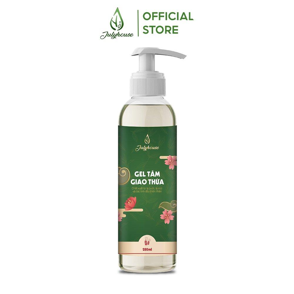 Gel tắm giao thừa chiết xuất Lá Mùi, Lá Bưởi và tinh dầu thiên nhiên 280ml JULYHOUSE