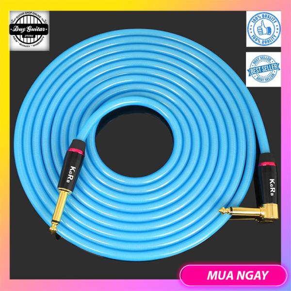 KGR professional guitar cable 6M màu đen - Dây tín hiệu kết nối guitar và ampli dài 6m - Dây Jack kết nối Guitar Bass Organ Trống Nhạc cụ + Duy Guitar Store