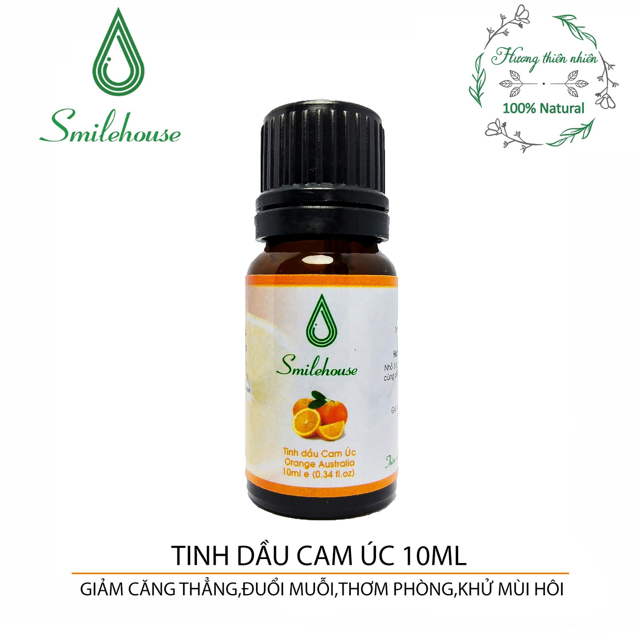 Tinh Dầu Cam Smilehouse - 10ml - giảm căng thẳng, thơm phòng, xua đuổi con trùng, tốt cho sức khỏe N