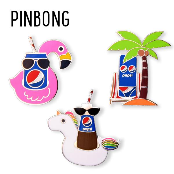 Huy hiệu PEPSI Combo Mùa hè PINBONG