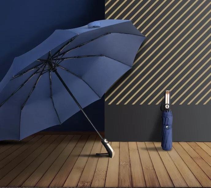 Ô đi mưa đóng mở tự động 2 chiều 701.3 (Xanh đen) đường kính 120 cm shopaha247
